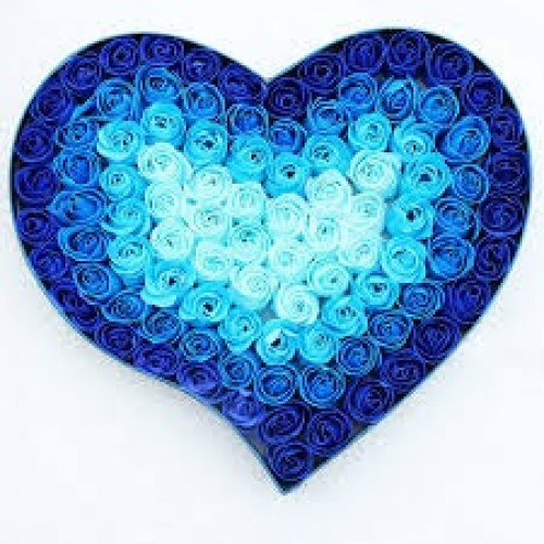 mixed blue heart of roses heart of blue roses 100 rose heart